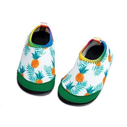 (Panda Software Baby Boys Girls Water Shoes Infant Barefoot Quick -Dry Anti- Slip Aqua Sock for Beach Swim Pool Pineapple/18-24 Months M US Infant)