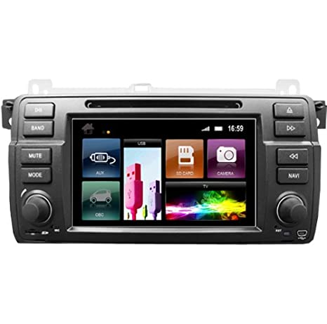 "2DIN 7"" BMW E46: NAVEGADOR GPS, BLUETOOTH PARROT, CD, DVD,"