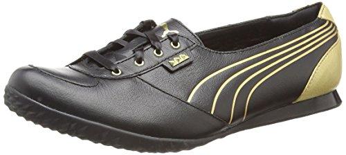 Puma Biker 5000 M2 Gold Zapatillas de cuero de la Mujer - Negro Black