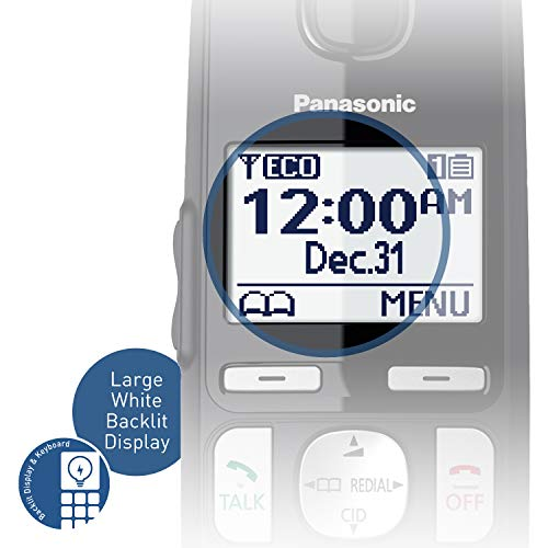 PANASONIC DECT 6.0 Expandable Cordless Phone System with Answering Machine and Call Blocking - 4 Handsets - KX-TGE434B (Black) by Panasonic (Image #5)
