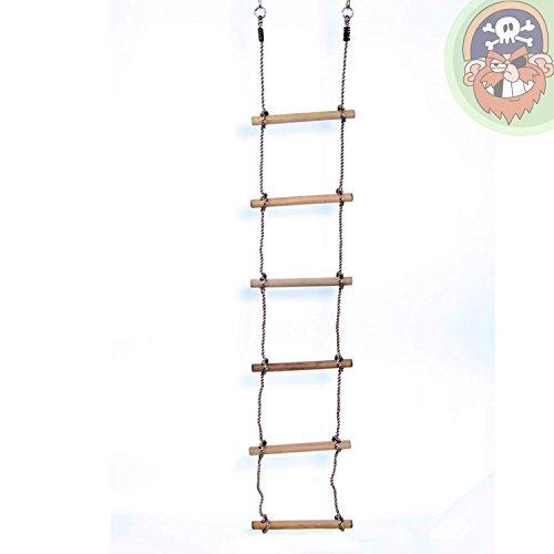 Estremamente Scala di corda con 6 pioli di legno: Amazon.it: Giochi e giocattoli GP23