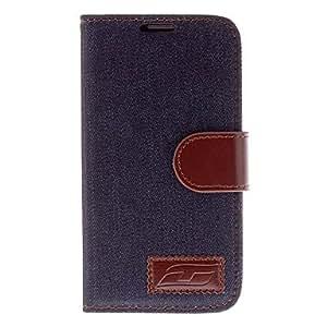 CECT STOCK Jean Diseño de cuero de caso completo de cuerpo de la PU para Samsung i9500 Galaxy S4 , Azul claro
