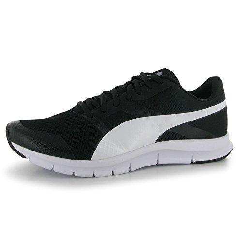 Puma Flex Racer Chaussures de Course pour Homme Noir/Blanc/Fitness Sport Baskets Sneakers, noir/blanc, (UK10) (EU44.5) (US11)
