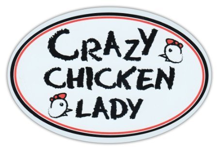Oval Car Sticker Chicken Bumper product image