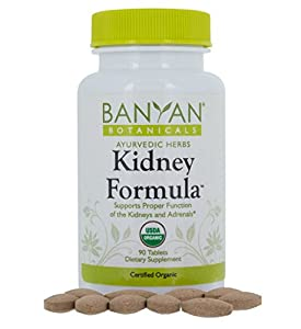 Banyan Botanicals Kidney Formula - Certified Organic, 90 Tablets - Supports Proper Function of the Kidneys and Adrenals