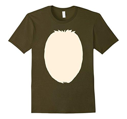 Funny Mens Halloween Costumes Ideas Homemade (Mens Christmas Reindeer Halloween Costume DIY Idea T-Shirt Medium Olive)
