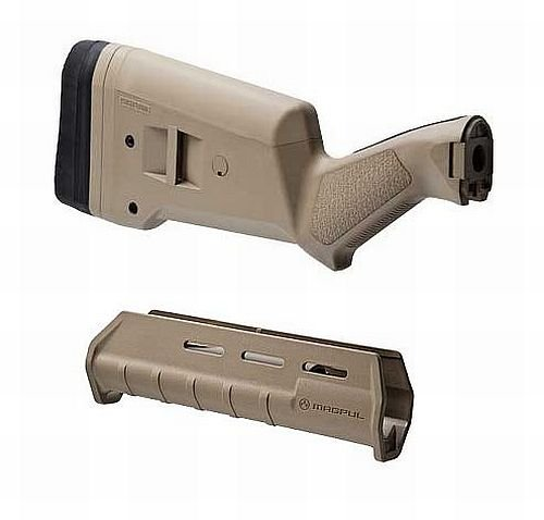 Magpul Stock Set For Remington 12 Gauge Pump Shotgun - Dark (Remington 870 Pump)