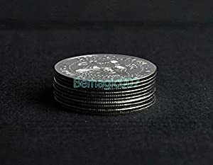 10 pcs Palming Coins(Half Dollar Version) - Coin&Money Magic