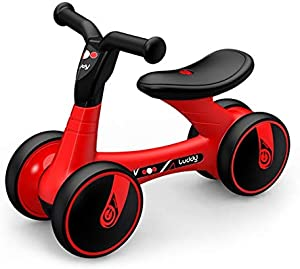 Lightweight Balance Bike for Toddlers Baby Balance Bikes Bicycle Baby Toys for 1-3 Year Old Boy Girl 12-36 Months Toddler Bike Infant No Pedal 4 Wheels First Birthday Gift Children Walker Grow With Yo