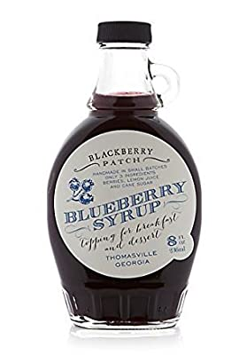 Blueberry Syrup 3 Ingredients - Blackberry Patch 8 oz Bottle – Oprah's Favorite Things 2014, Small Batch & Handmade in Georgia, Perfect on Pancakes, Waffles & French Toast, Great Dessert Topping