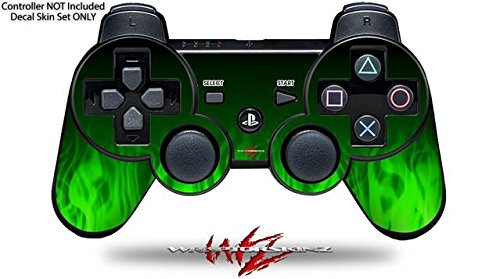 Sony PS3 Controller Decal Style Skin - Fire Green (CONTROLLER NOT INCLUDED)