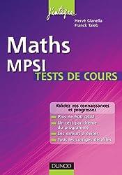 Maths MPSI Tests de cours - Validez vos connaissances et progressez !