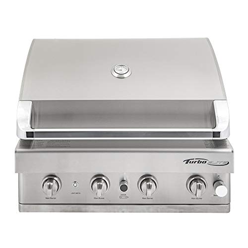 Barbeques Galore Turbo Elite 4-Burner Built-in Gas Grill – Natural Gas