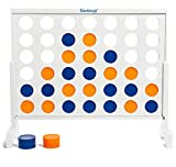 Giant 4-in-A-Row Connect Game - 4 to Score Life Size Jumbo Family Playset - Fun for Adults and Kids Outdoor, Lawn, Yard, and Party Get Togethers (36'' X 32'')