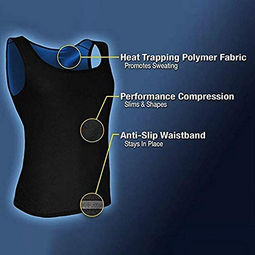 Nrpfell Sauna Vest Premium Workout Tank Top Polymer for Slimming Weight Loss Fitness Mens S//M