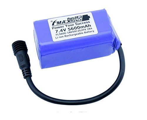 Liion Battery 7.4V 5600Mah For Led Bike Light 28A 2S2P Us