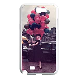 QSWHXN Diy Phone Case Audrey Hepburn Pattern Hard Case For Samsung Galaxy Note 2 N7100