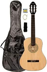 "36"" Inch 3/4 Natural Student Beginner Junior Classical Nylon String Guitar and Carryying Bag, Strap, DirectlyCheap(TM) Translucent Blue Medium Guitar Pick (PRO-K Series) [Teacher Approved]"