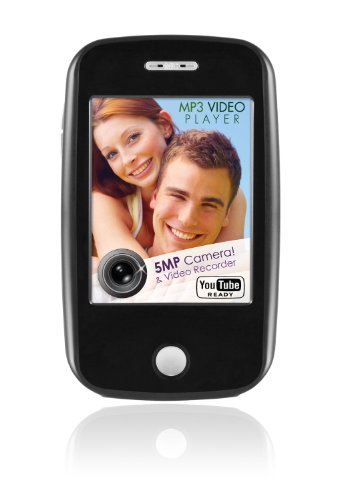 Ematic EM604 4 GB Video MP3 Player with Touchscreen, 5MP Video/Still Camera, FM Radio, and Speaker (Ematic E6)