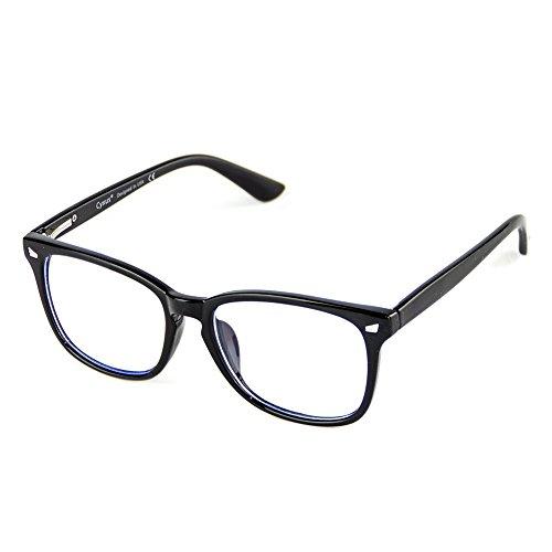 Cyxus Blue Light Blocking [Spring Hinge] Glasses, Clear Lens (Black) by Cyxus