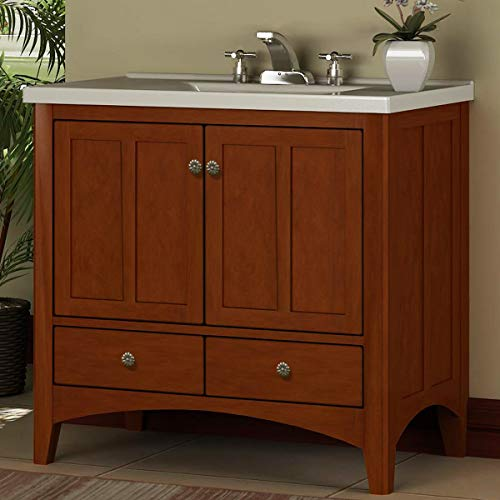 Vanity Bathroom Single Nutmeg - Miseno MVEP36VT 36