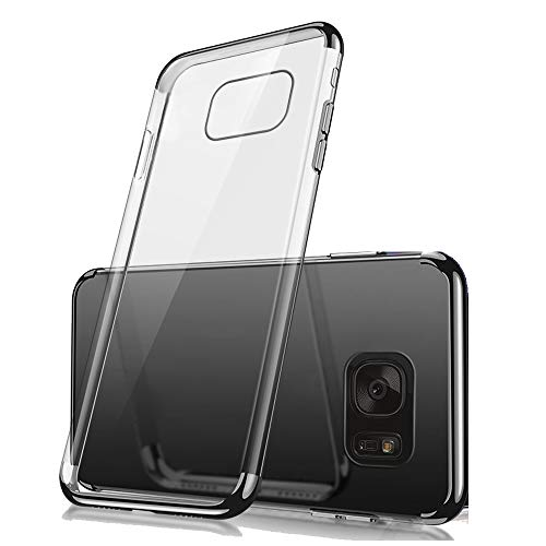 Miagon Clear Case for Galaxy S6 Edge,Stylish Electroplating Transparent Soft Premium Silicone Ultra Thin Anti-Scratch Protective Case Cover for Samsung Galaxy S6 Edge