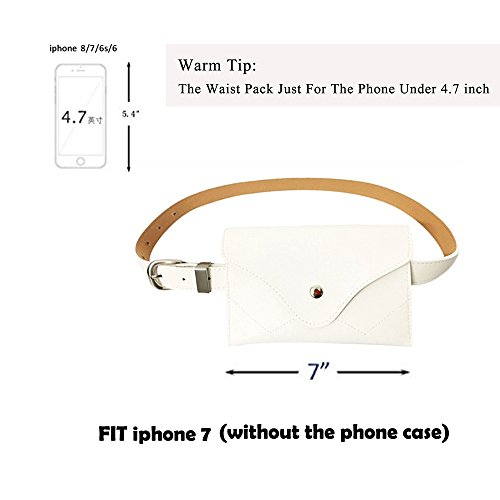 Womens leather fanny pack,VITORIA'S GIFT removable Belt with MINI Purse Travel Cell Phone Bag(phone under 4.7 inch) by VITORIA'S GIFT (Image #4)