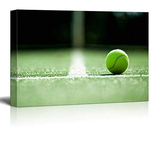 Canvas Wall Art Artworks Painting for Office Home,Ace,Tennis Ball on Grass Courts,Grand Slam,Major Tournament,Canvas Art Home Decor,16