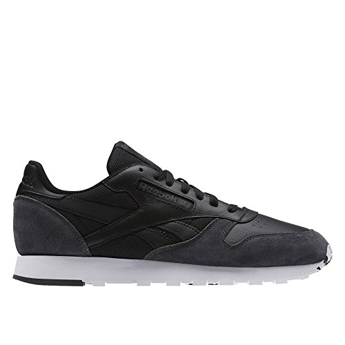 Reebok Cl Leather Mo, Zapatillas de Deporte para Hombre Negro (Black / Coal / White / Skull Grey / Risk Blue)