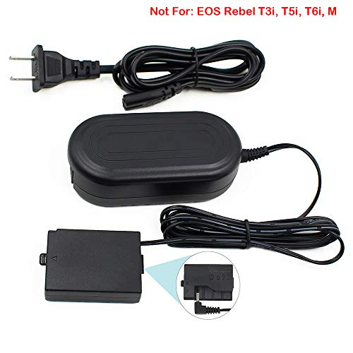 (ACK-E10 FlyHi ACK-E10 AC Power Adapter DR-E10 DC Coupler Charger Kit (Replacement for LP-E10) for Canon EOS Rebel T3, T5, T6, Kiss X50, Kiss X70, EOS 1100D, EOS 1200D, EOS)