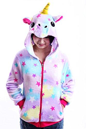 Unicorn Jacket Hoodies Girls Costumes Sweatshirt Toddlers Juniors(Star, ()
