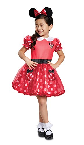 Disguise Red Minnie Mouse Toddler Child Costume, Red,