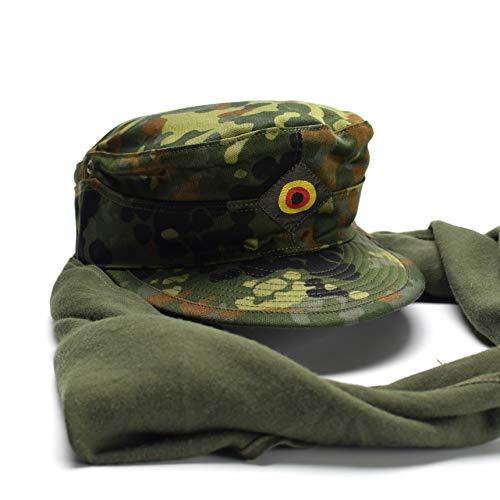 Genuine Brand German Army Cap Fleckt-tarn Woodland Camouflage Field Original Military Issue hat (Medium)