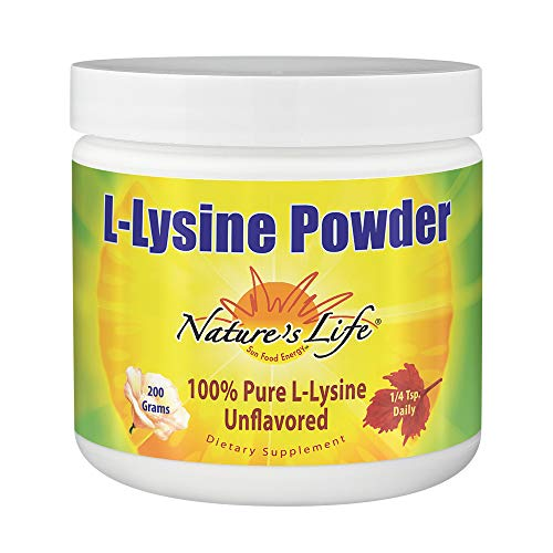 Cheap Nature's Life L-Lysine Powder | Helps Support Healthy Immune Function | 100% Pure Natural L-Lysine | Vegetarian, Unflavored, Sugar Free | 460 Servings