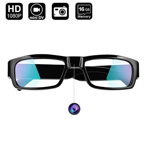 Camera Glasses, Digihero 1080P Hidden Camera Glasses, Real Full HD 1080P with Wide Angle Spy Glasses Camera Video with 16GB Card (Glasses Camera)
