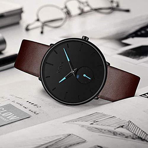 Mens Watches Fashion Simple Minimalist Waterproof Quartz Analog Watch Designer Luxury Business Classic Dress Wrist Watch
