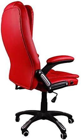 si/ège en Cuir Confortable inclinable Beige Giosedio BSB Massage Fauteuil /él/égant pour Bureau pivotant Chaise inclinable Hauteur r/églable Chaise Bureau Fauteuil Bureau Simili Cuir