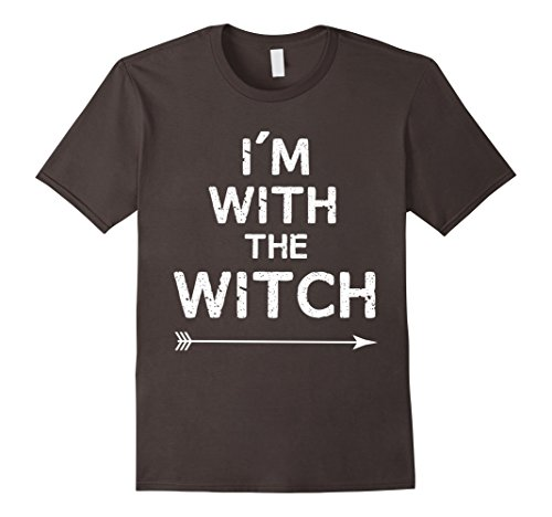 Mens Halloween Couples Costume - I'm With The Witch 2XL Asphalt -