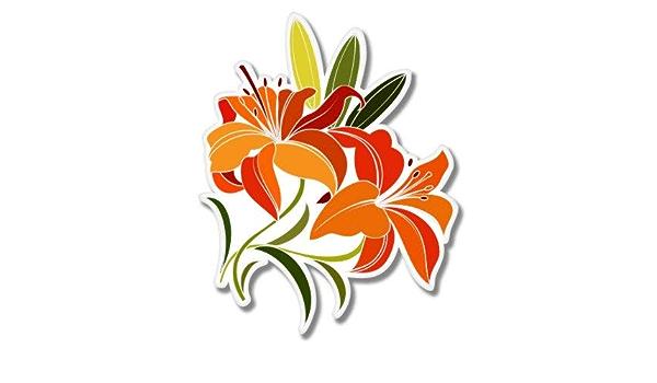 "Lily Girly Flower Graphic Die Cut decal sticker Car Truck Boat Window Bumper 10/"""