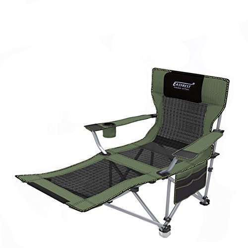 Outdoor folding chair, Recliners Lounge chair Portable Back lounge chair Beach fishing chair Siesta bed chair-B L162xH38cm(64x15inch) ()