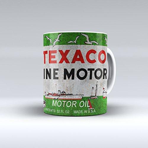 Coffee Mug 11 Oz Vintage Texaco Marine Motor Oil Can Garage Collectible
