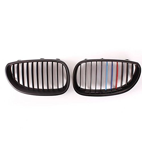 AUDEW M Style Grille Grill Gloss Black Kidney For BMW E60 E61 525i 528i 530 535 545 M5