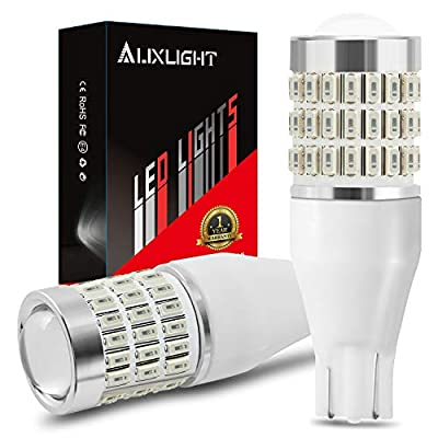 AUXLIGHT 921 912 906 904 T15 W16W LED Bulbs 57SMD Chipsets Brake Lights, Tail Lights, High Mount Stop Lights, 3rd Brake Lights with Projector replacement, Super Bright, Brilliant Red (Pack of 2): Automotive