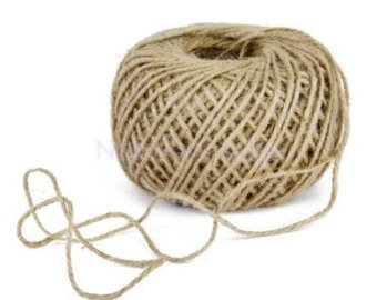 COTTON TWINE RIBBON NATURAL JUTE (SET OF (Cotton Wired Ribbon)