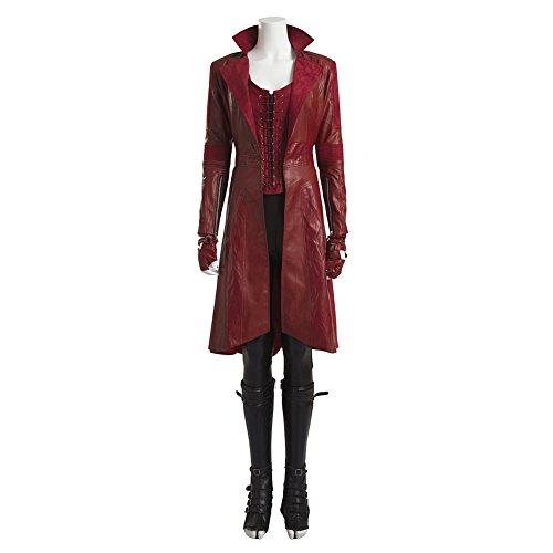 MagicCosplay Women's Captain America 3 Scarlet Witch Cosplay Costume Halloween(XXL) (Black Widow Witch Costume)