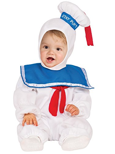 Rubie's Baby Classic Ghostbusters Ez-on Stay Puft Romper Costume, Multicolor, 2T -