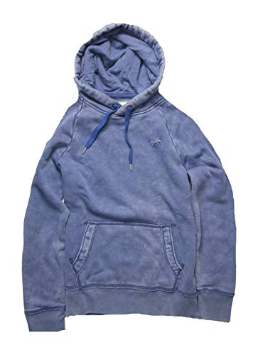 Hollister Men's Hoodie Sweatshirt Pullover (M, Blue 5005) by Hollister