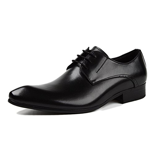 Brun Derby Travail Banquet Rouge en Cuir Formel Mariage Hommes A Chaussures RENHONG Lacets à d'affaires Noir 68wa6q