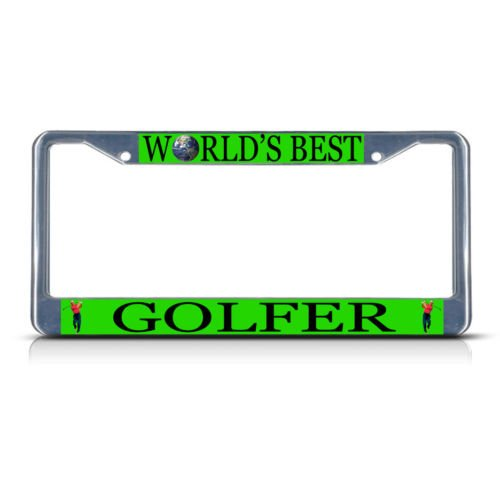 Knife Golfers (GOLFER CAREER PROFESSION Metal License Plate Frame Tag Border Two Holes PREMIUM Men Women Car garadge decor)