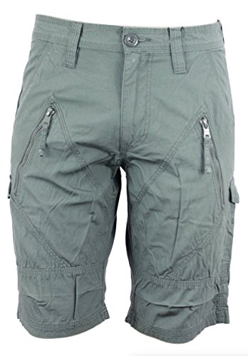 Armani Exchange Aix Utility Zip Short In Army Green, Size ()